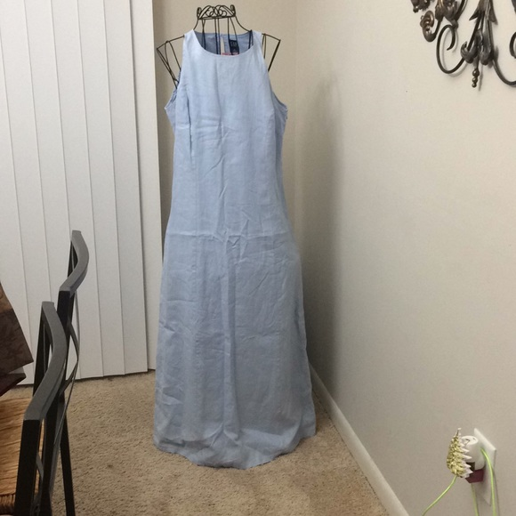 GAP Dresses & Skirts - Sleeveless Gap blue lined linen dress size 6